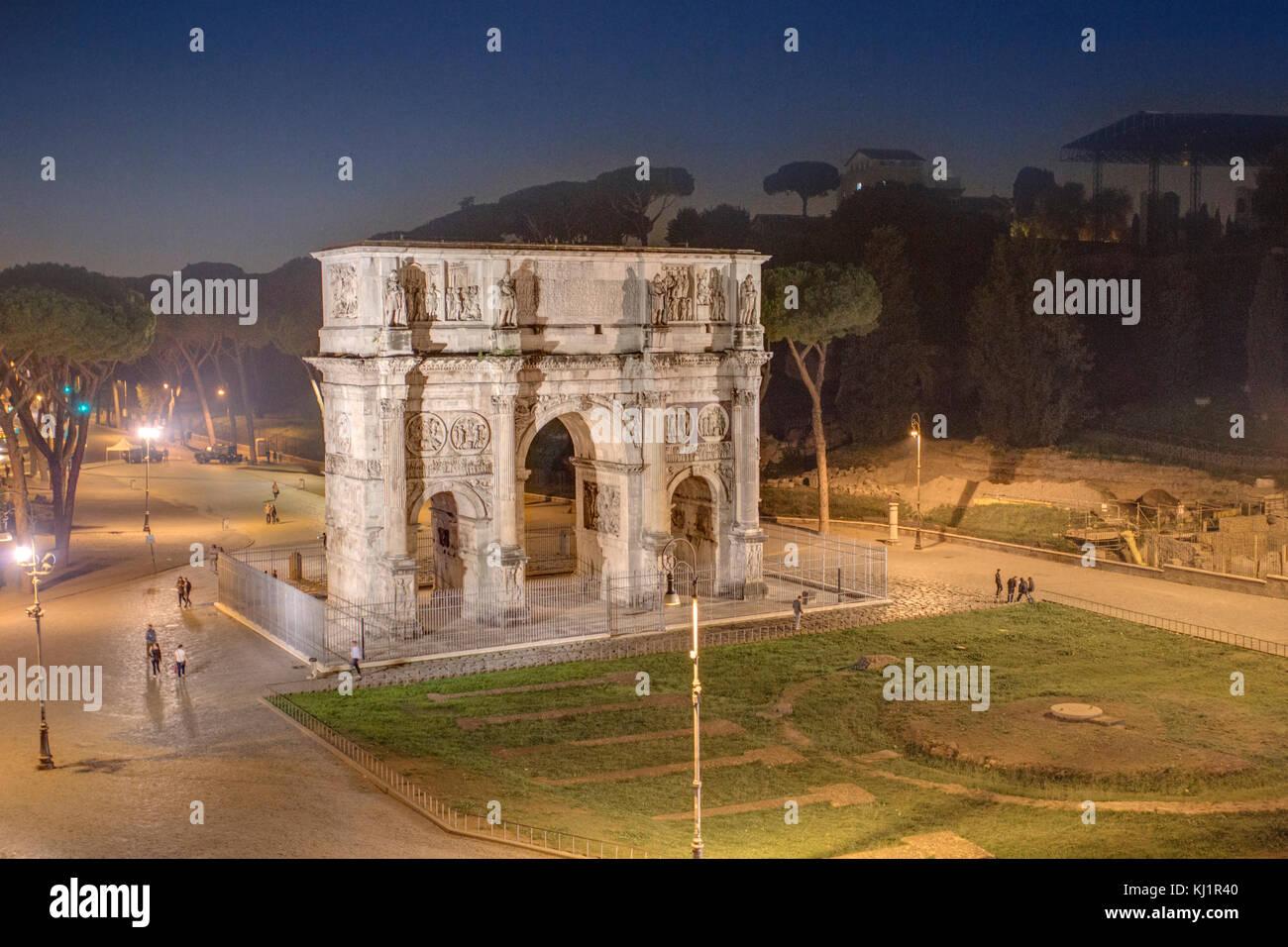 Arco di Costantino, Roma  --  Arch of Constantine, Rome - Stock Image