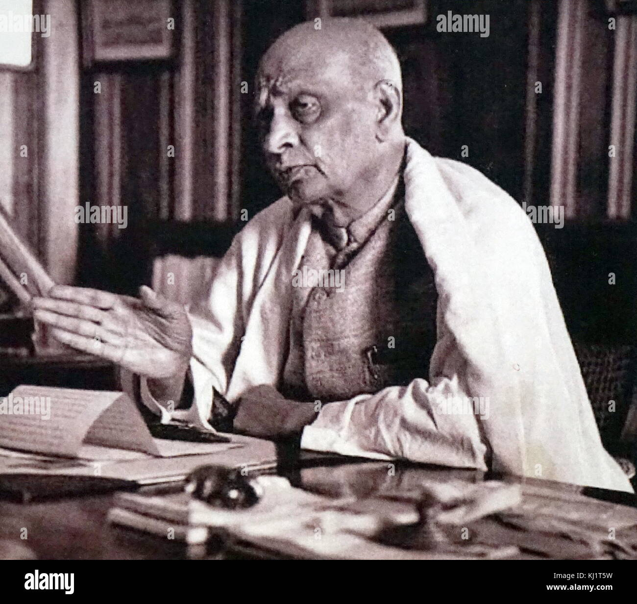 Sardar Vallabhbhai Patel (1875 – 1950); first, Deputy Prime Minister of India. Indian barrister and statesman, a - Stock Image