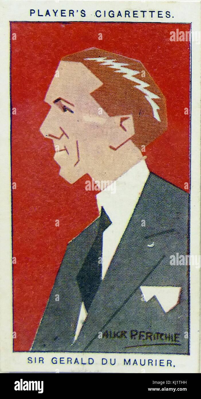 Player's cigarette card depicting Sir Gerald du Maurier (1873–1934), British actor, son of writer George du - Stock Image
