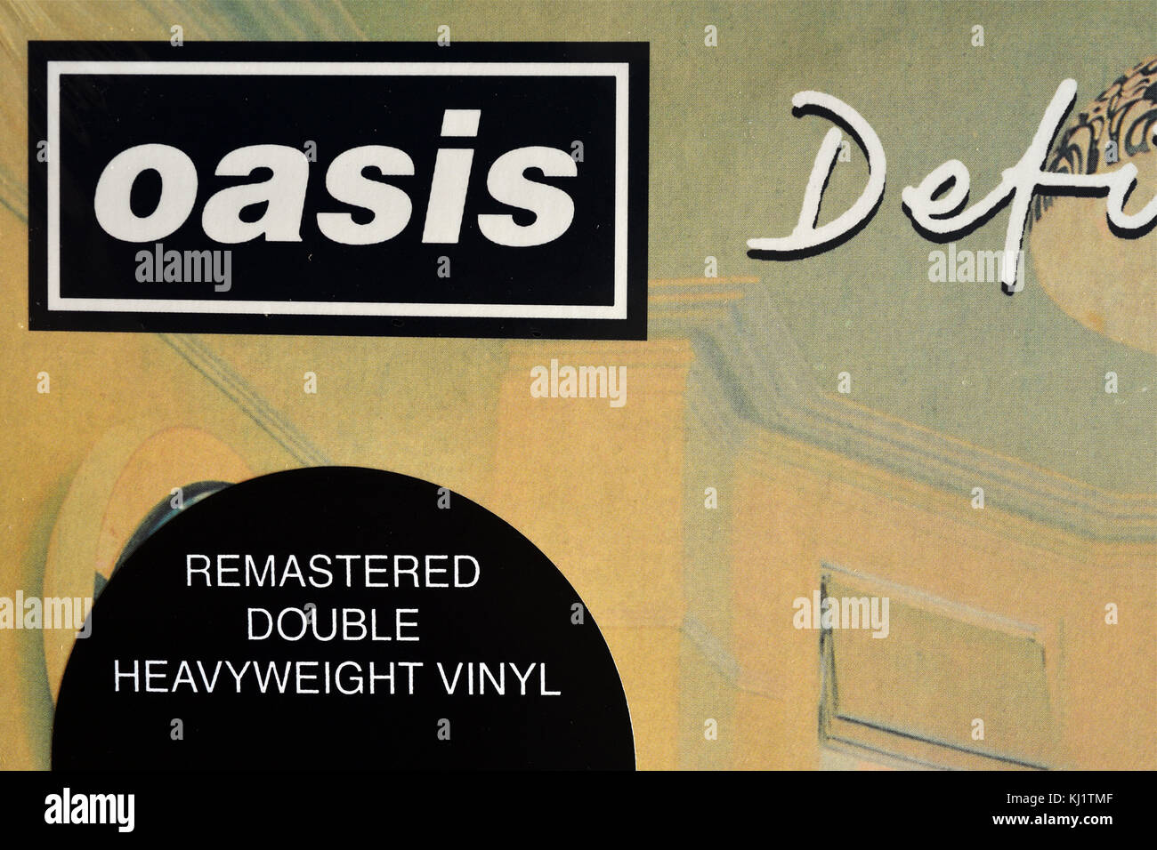 Definitely Maybe album by Oasis - Stock Image
