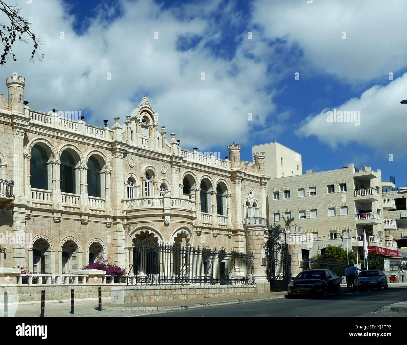 Jacir Palace Hotel, Bethlehem is the largest hotel in Bethlehem in the central West Bank in Palestine. The building's - Stock Image