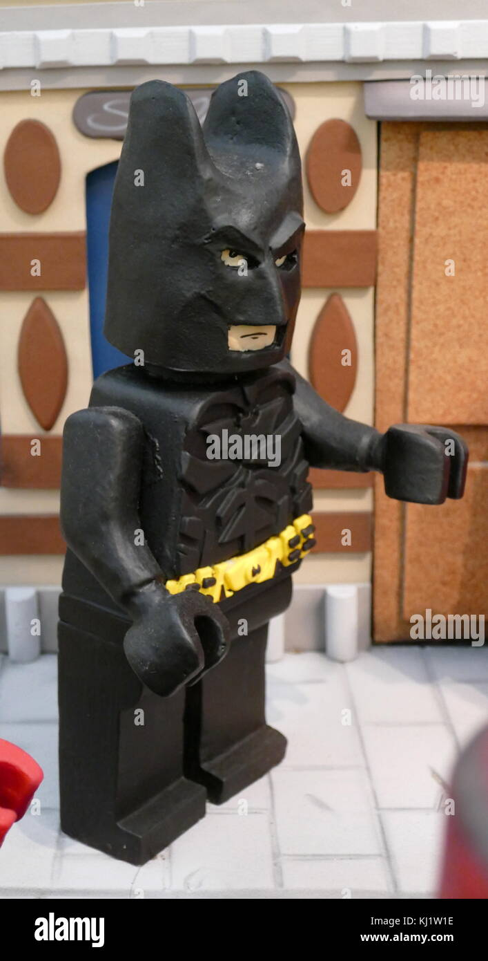 Plasticine model of the comic book character 'Batman'. Dated 21st Century - Stock Image