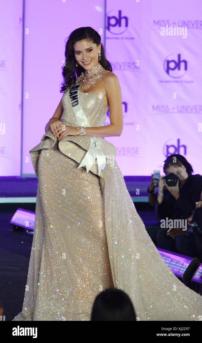 Las Vegas, Nevada, USA. 20th Nov, 2017. Miss Universe Thailand Maria ...