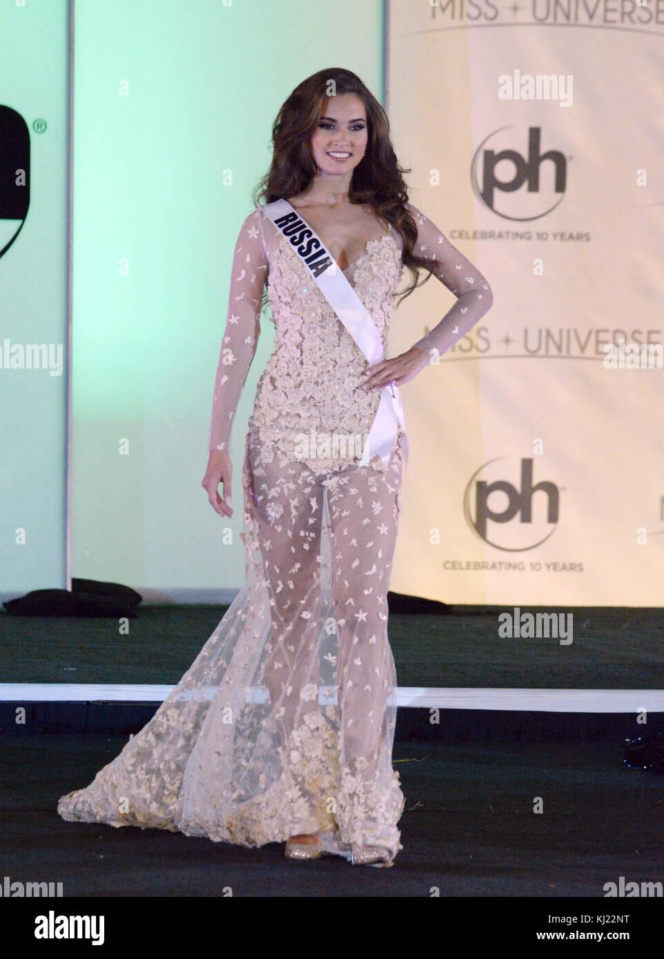 Las Vegas, Nevada, USA. 20th Nov, 2017. Miss Universe Russia Kseniya ...