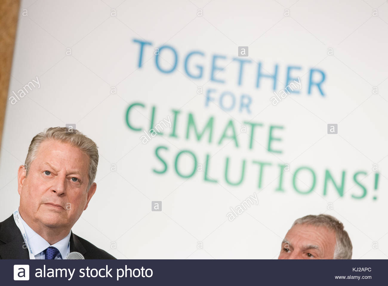 Environmentalist and former Vice President Al Gore (USA) gives a speech at the 2017 United Nations Climate Change - Stock Image