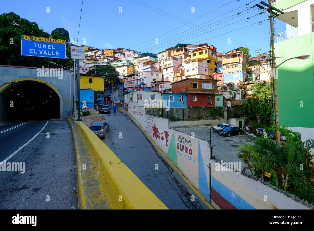 Venezuela, Santiago de Leon de Caracas: shanty towns in the upper city - Stock Image