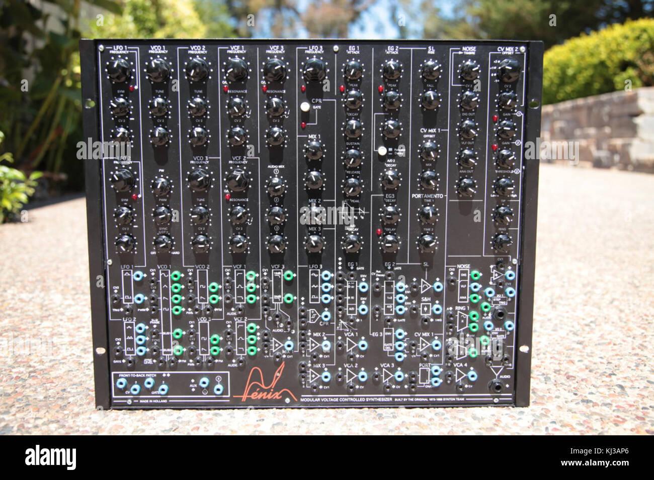 Fenix I synthesiser - Stock Image