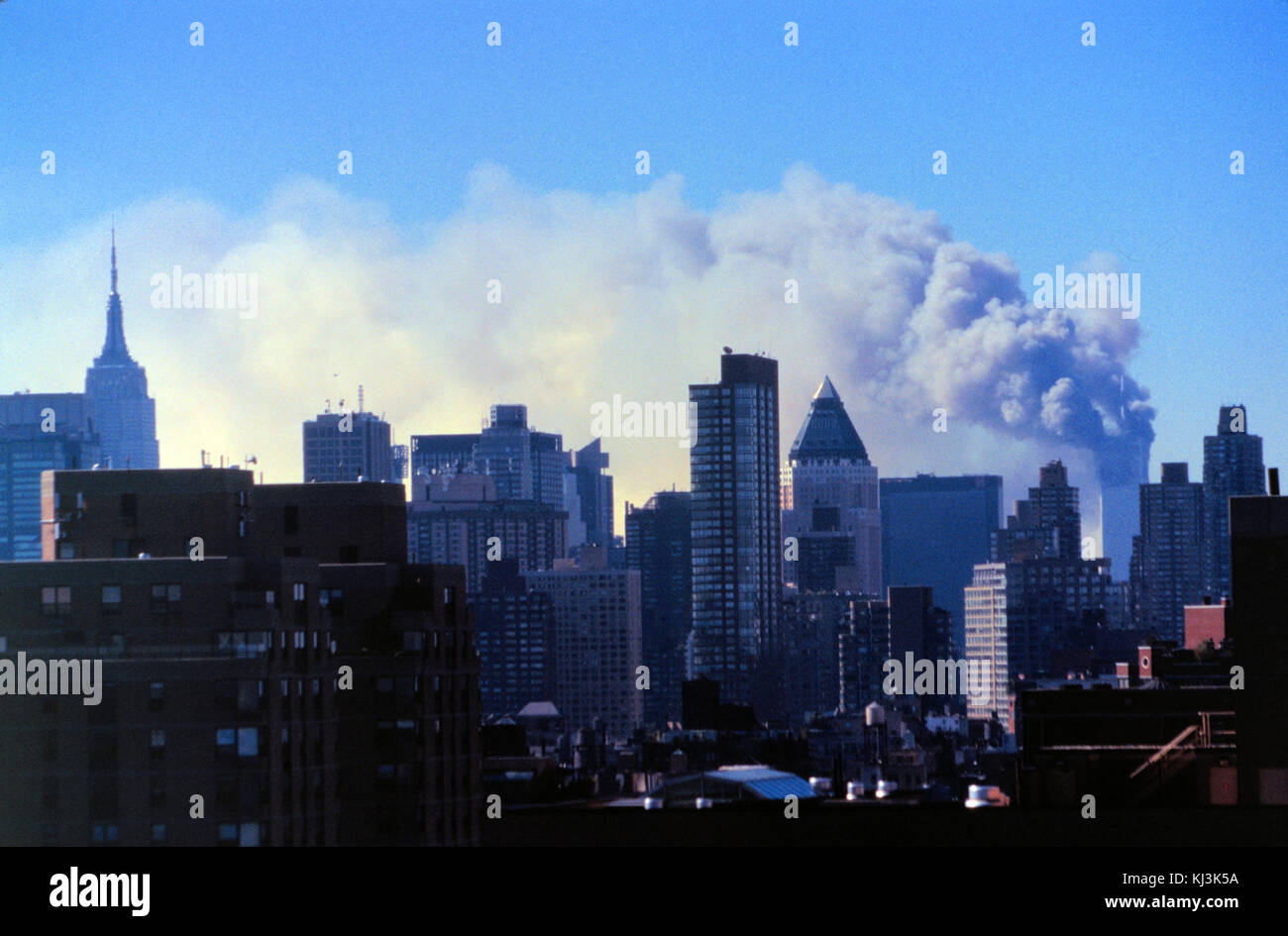 Unattributed photograph of the September 11th terrorist attack 0039u (29138114490) - Stock Image