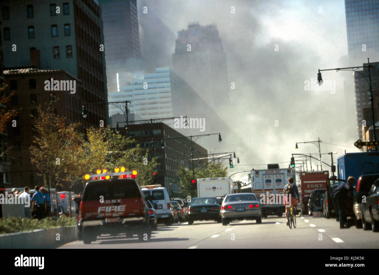 Unattributed photograph of the September 11th terrorist attack 0060 (28802448174) - Stock Image