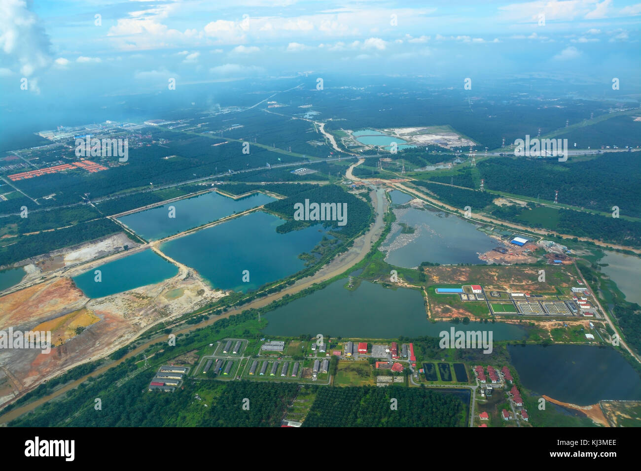 Arial view - Stock Image