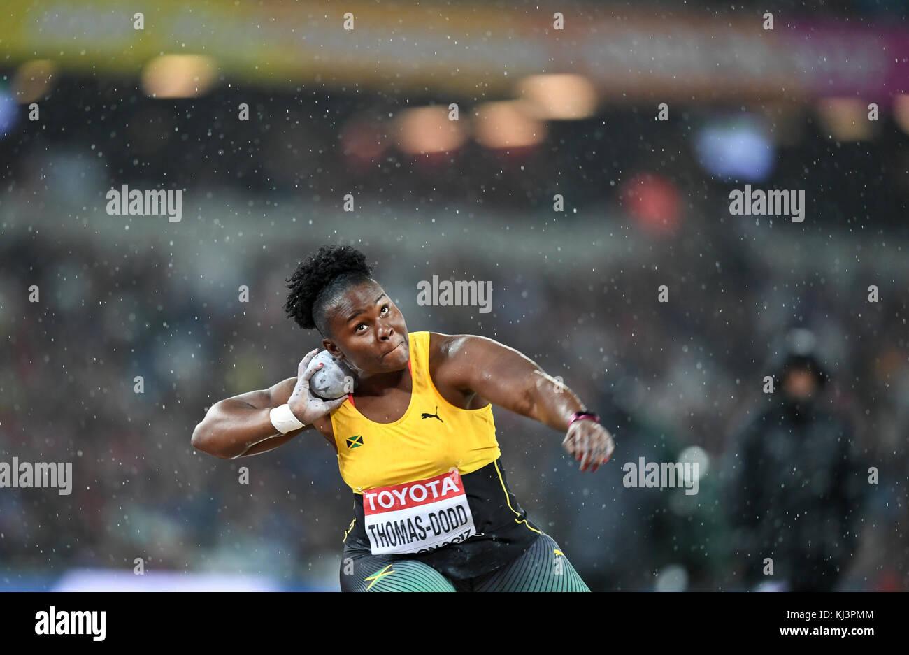 Danniel Thomas-Dodd (Jamaica) - Shot Put women - IAAF World Championships, London 2017 - Stock Image