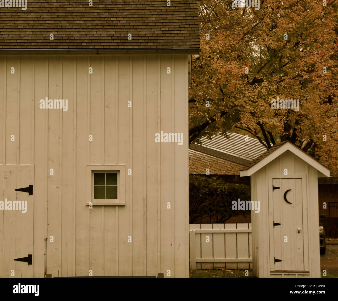 Out House in Springfield, Illinois - Stock Image