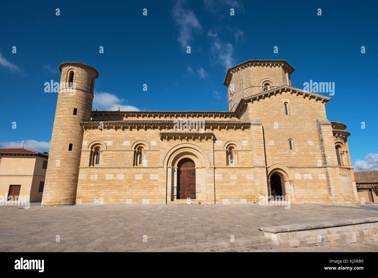 Famous romanesque church San Martin de Tours in Fromista, Palencia, Spain. - Stock Image