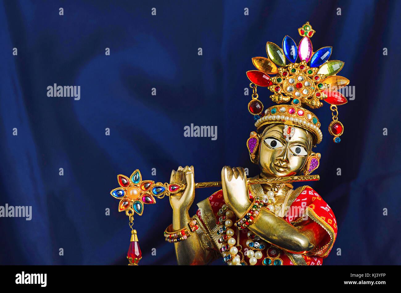 Krishna Cow Flute Stock Photos & Krishna Cow Flute Stock