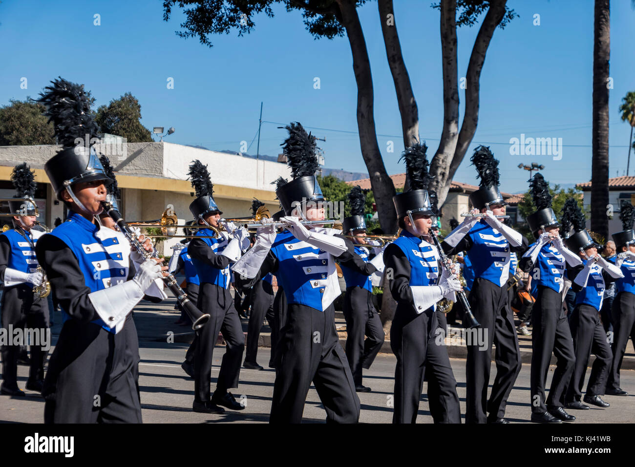 Arcadia, NOV 19: The famous Arcadia Festival of Bands parade on NOV 19, 2017 at Arcadia, Los Angeles County, California, - Stock Image