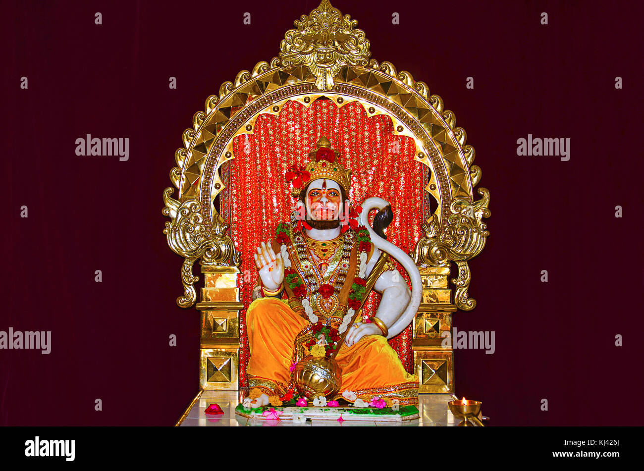 The idol of Lord Hanuman - Maruti  Made of white marble
