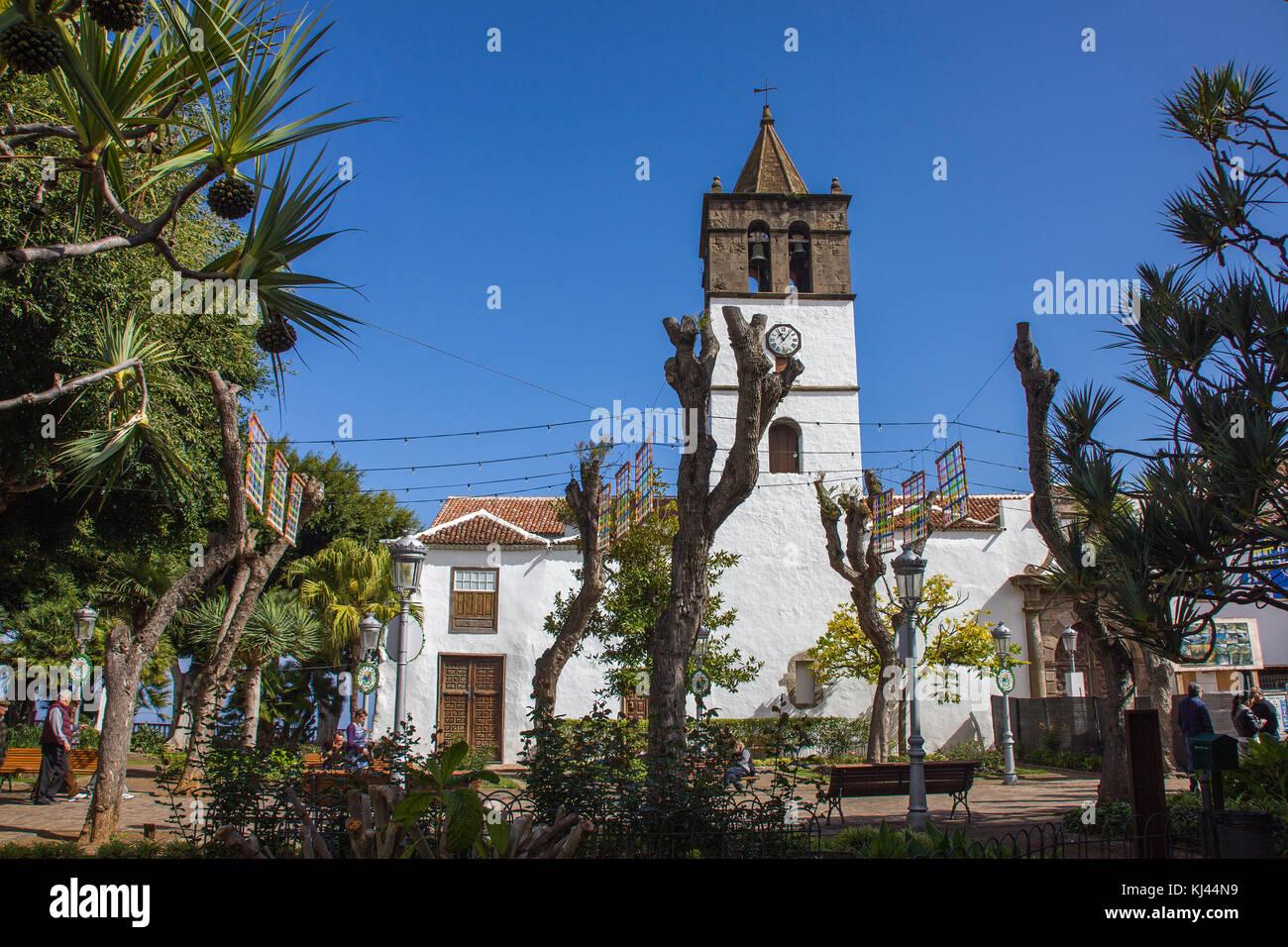 Iglesia de San Marcos, Kirche in Icod de los Vinos, Teneriffa, Kanarische Inseln, Spanien, Atlantischer Ozean, Europa - Stock Image