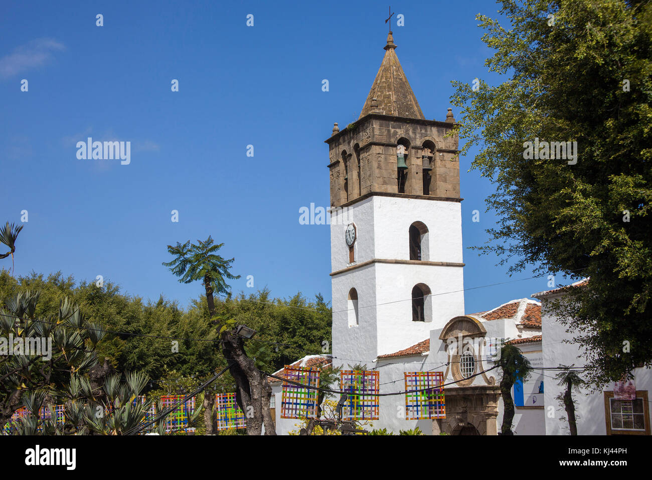 Iglesia de San Marcos, church at Icod de los Vinos, Tenerife island, Canary islands, Spain - Stock Image