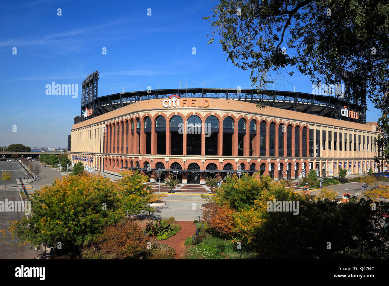 Exterior of CitiField baseball stadion in Queens, New York City - Stock Image