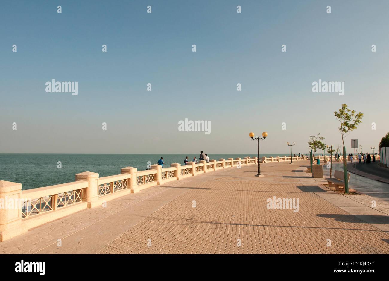 The Corniche in Dammam, Saudi Arabia - Stock Image