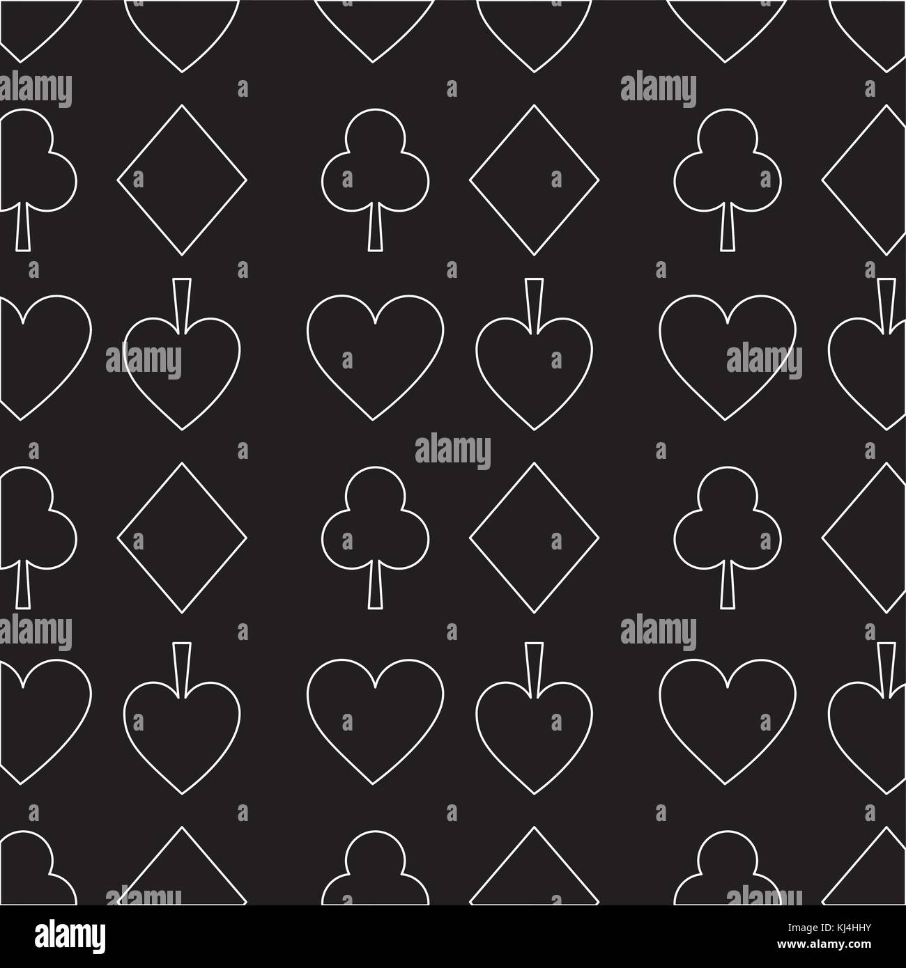 Seamless Poker Pattern With Card Suits Casino Texture Dark Background Stock Vector Image Art Alamy