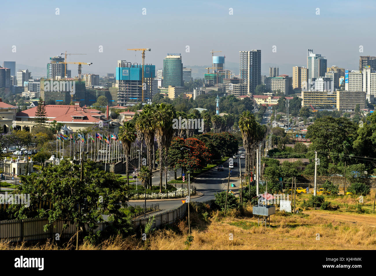 View of the skyline of Addis Ababa, Ethiopia - Stock Image
