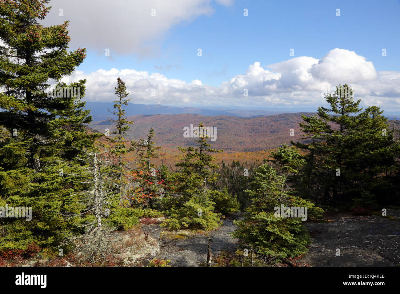 Scenic overlook, Camel's Hump, VT, USA - Stock Image