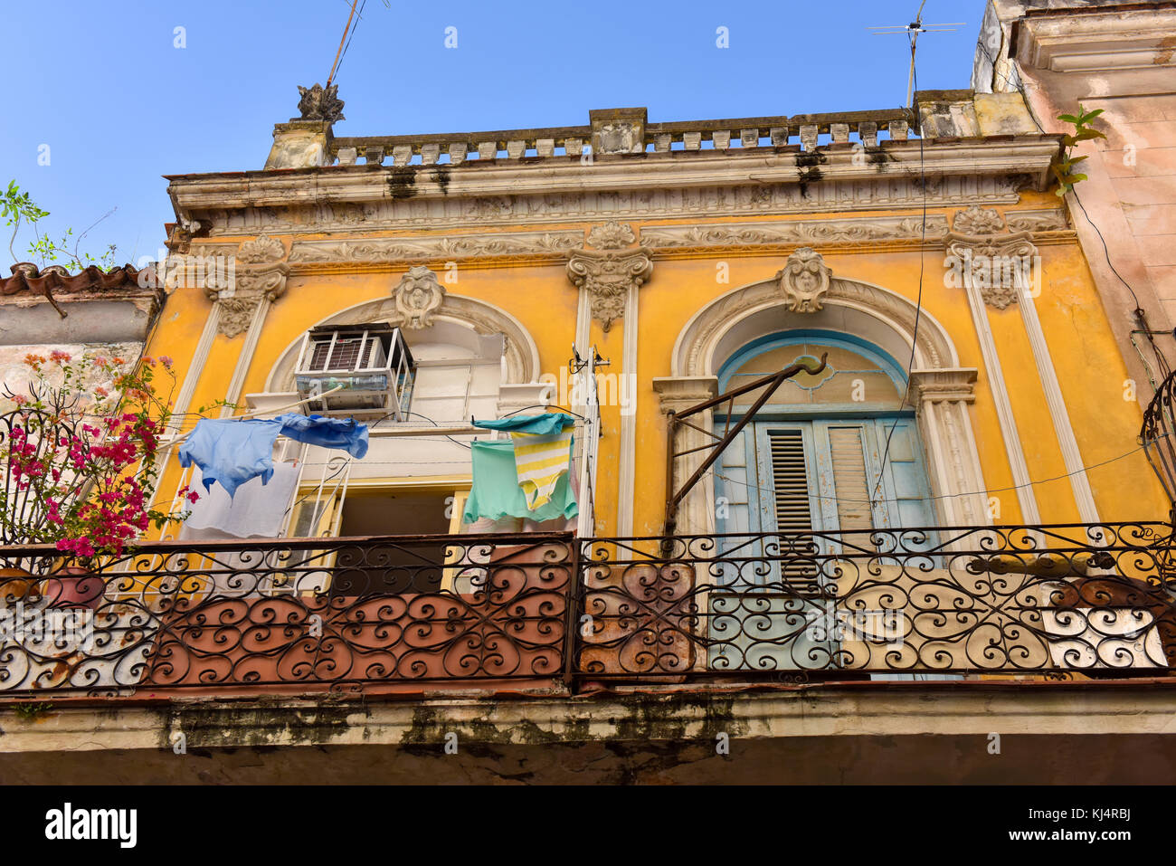 Building , Habana Vieja , Cuba - Stock Image