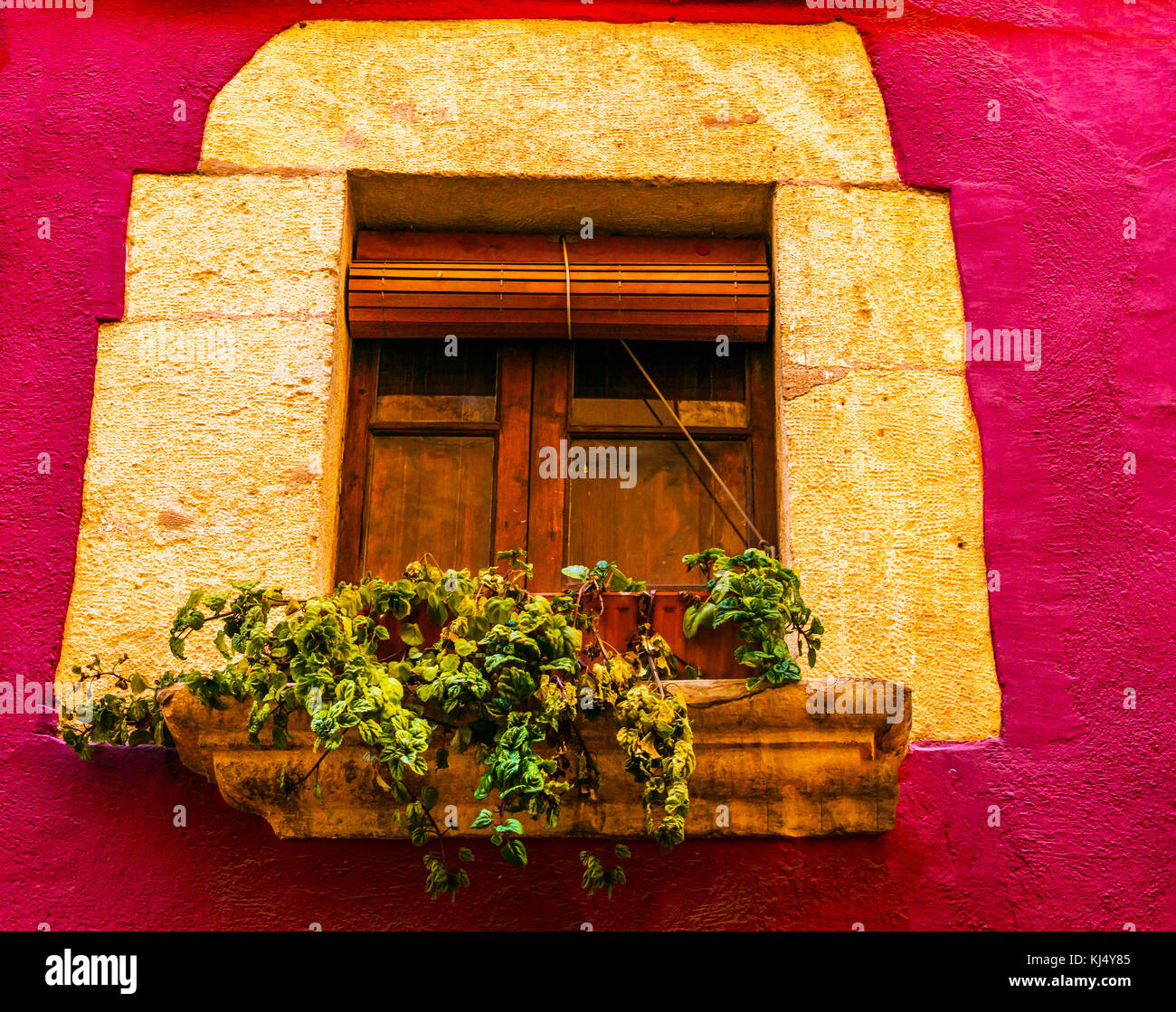 window shutters on an old european style building, architectural ...