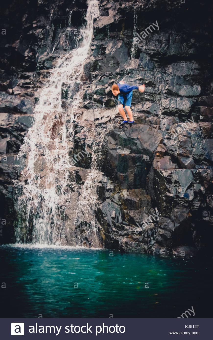 rock diving - Stock Image
