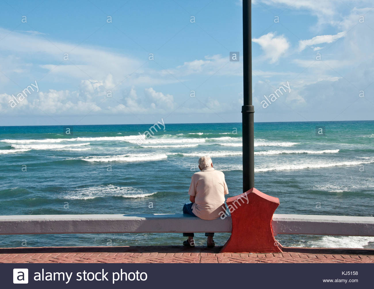 the old Man and the Sea - Stock Image