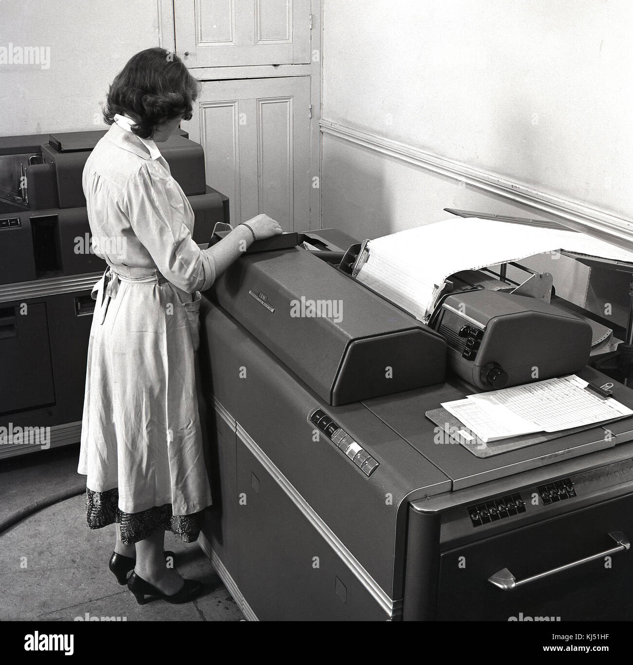 Early Computer 1950s Stock Photos & Early Computer 1950s