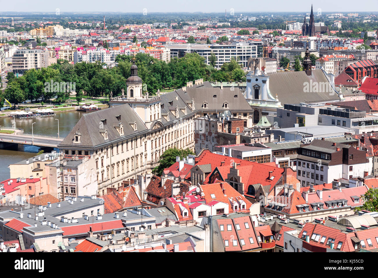 Sights of Poland. Breslau Old Town. - Stock Image