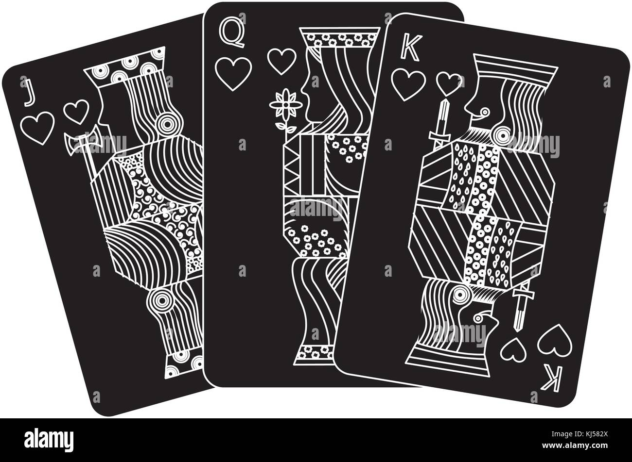 Black King Queen Stock Vector Images Alamy