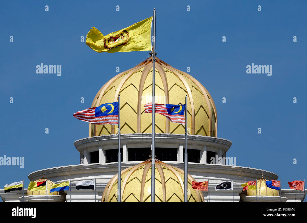 General view of the front entrance of the Malaysia King's Palace in Kuala Lumpur, February 12, 2017. - Stock Image