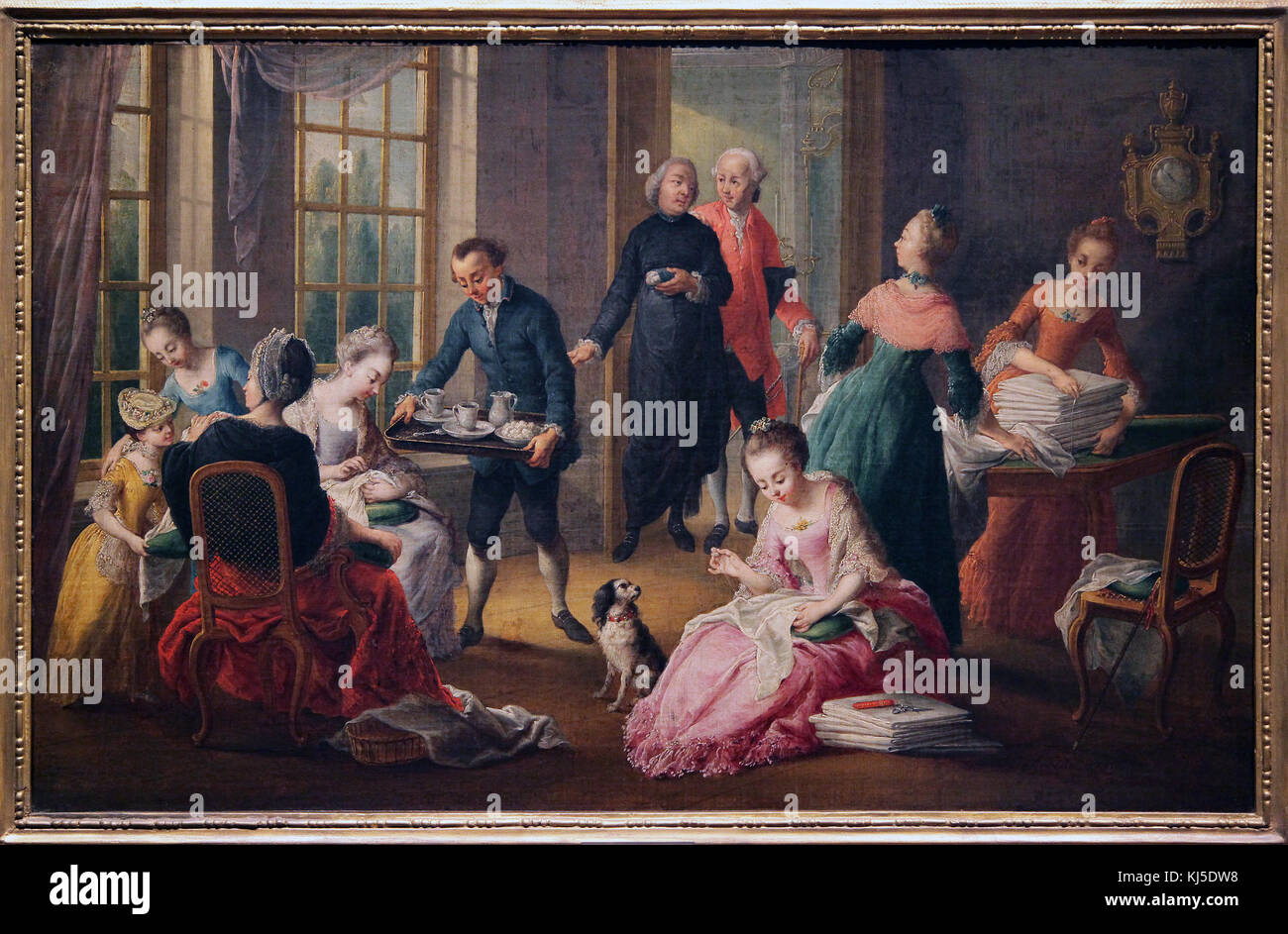 Afternoon tea by Jan Anton Garemijn 1712-1799 Flemish painter and engraver - Stock Image