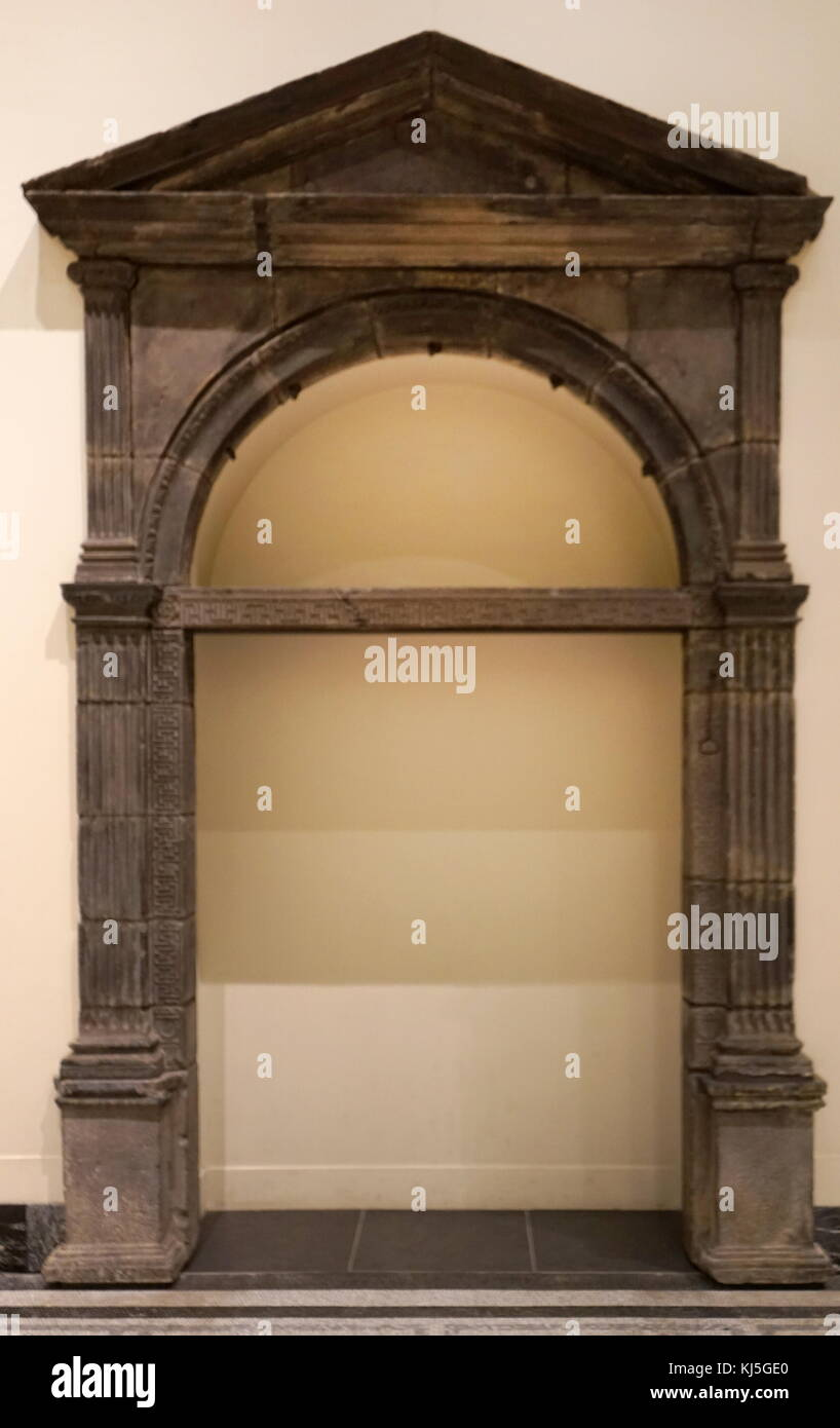 classically inspired doorway 1557, probably from the house of Diane de Poitiers, mistress to Henry ll of France. - Stock Image