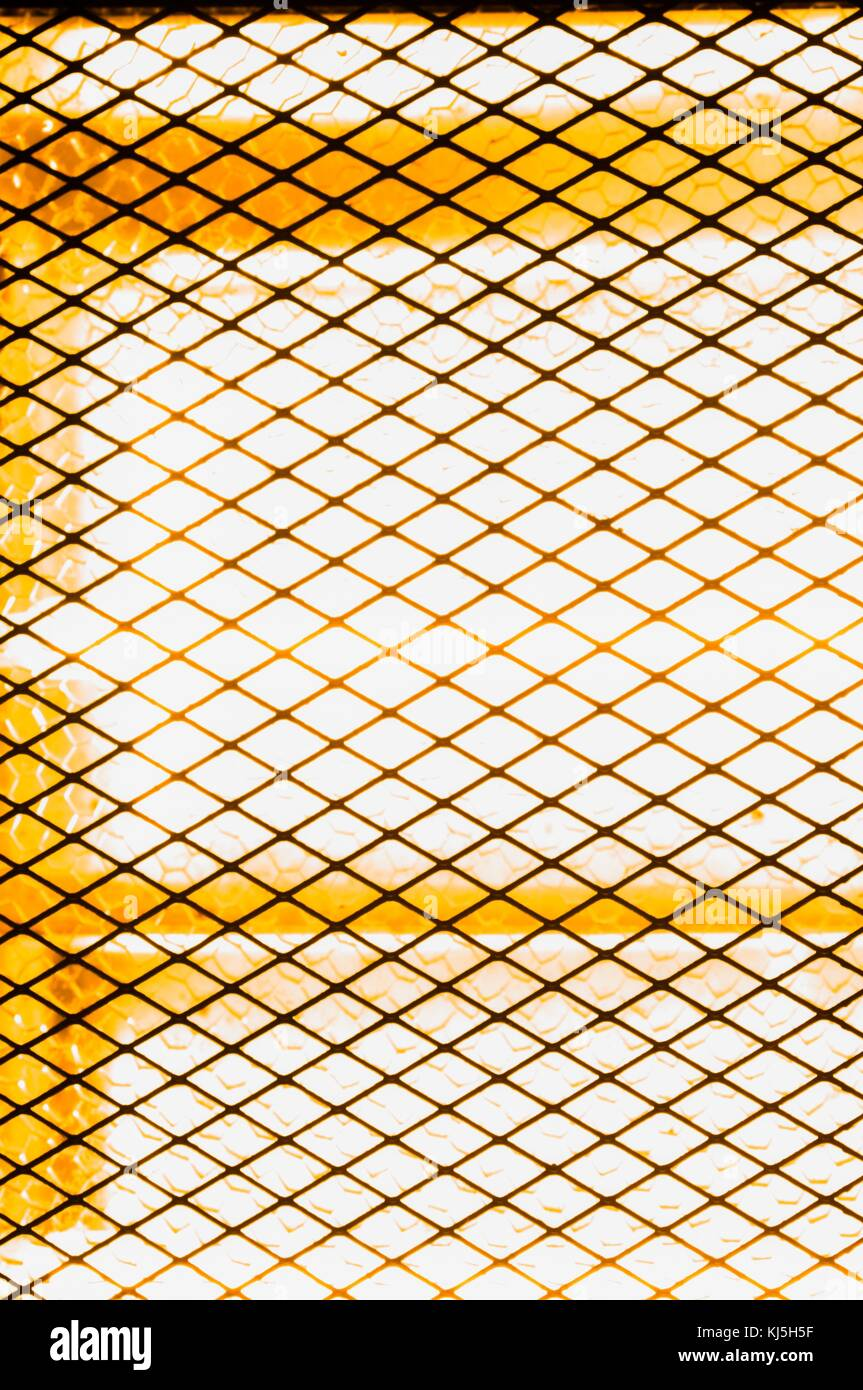 Electrical stove of radiators with metallic grids - Stock Image
