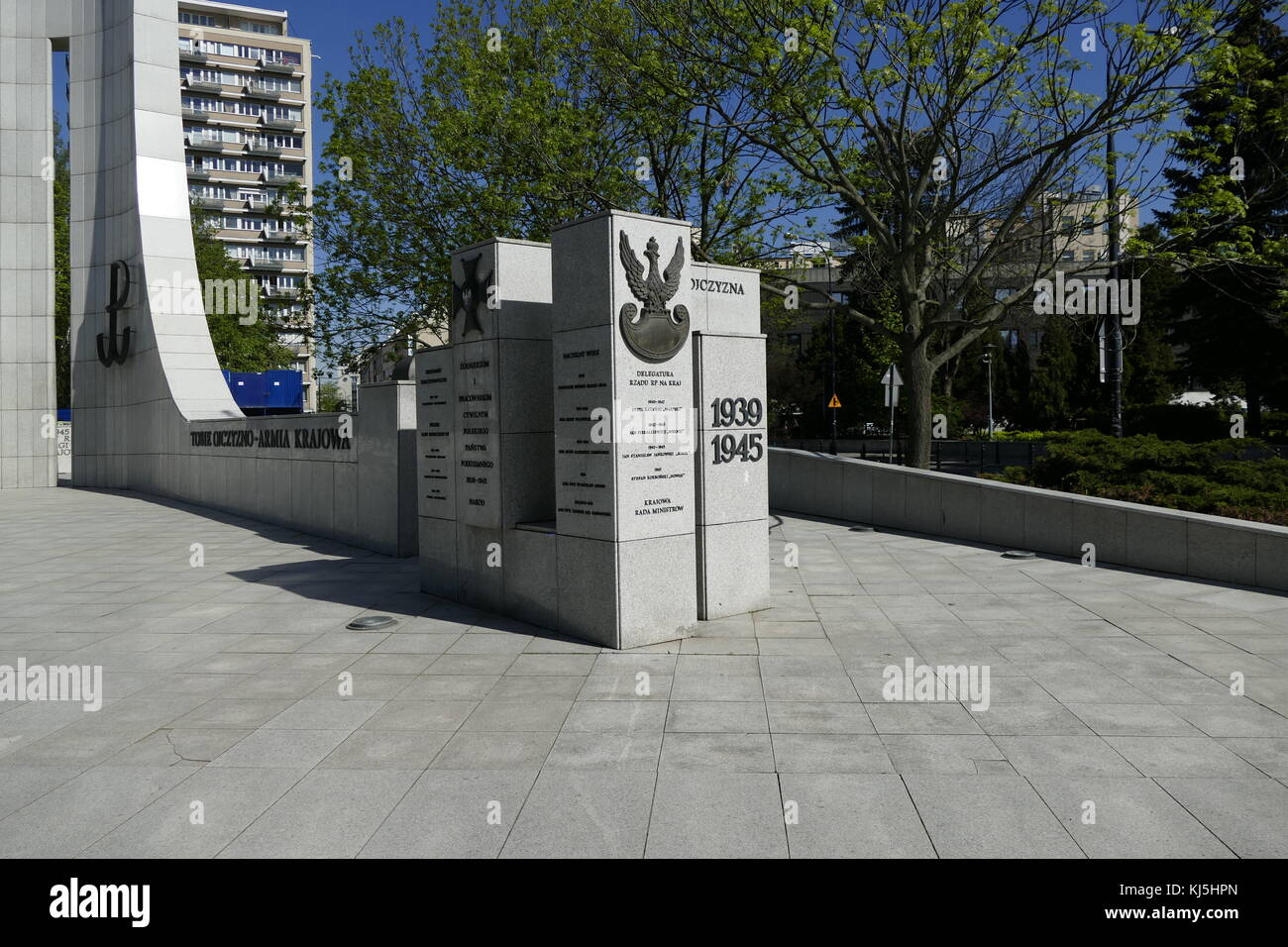 Monument of Polish Underground State and Home Army in Warsaw. (Polish resistance to German occupation during World Stock Photo