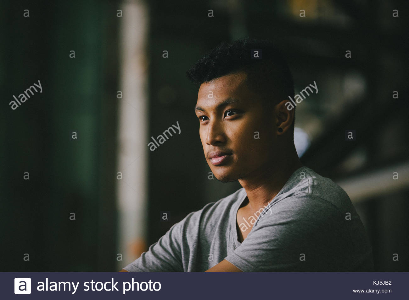 Portrait of young man - Stock Image