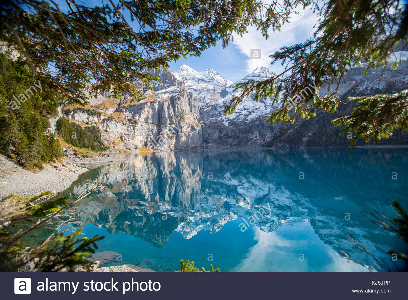 Lake Oeschinen - Stock Image