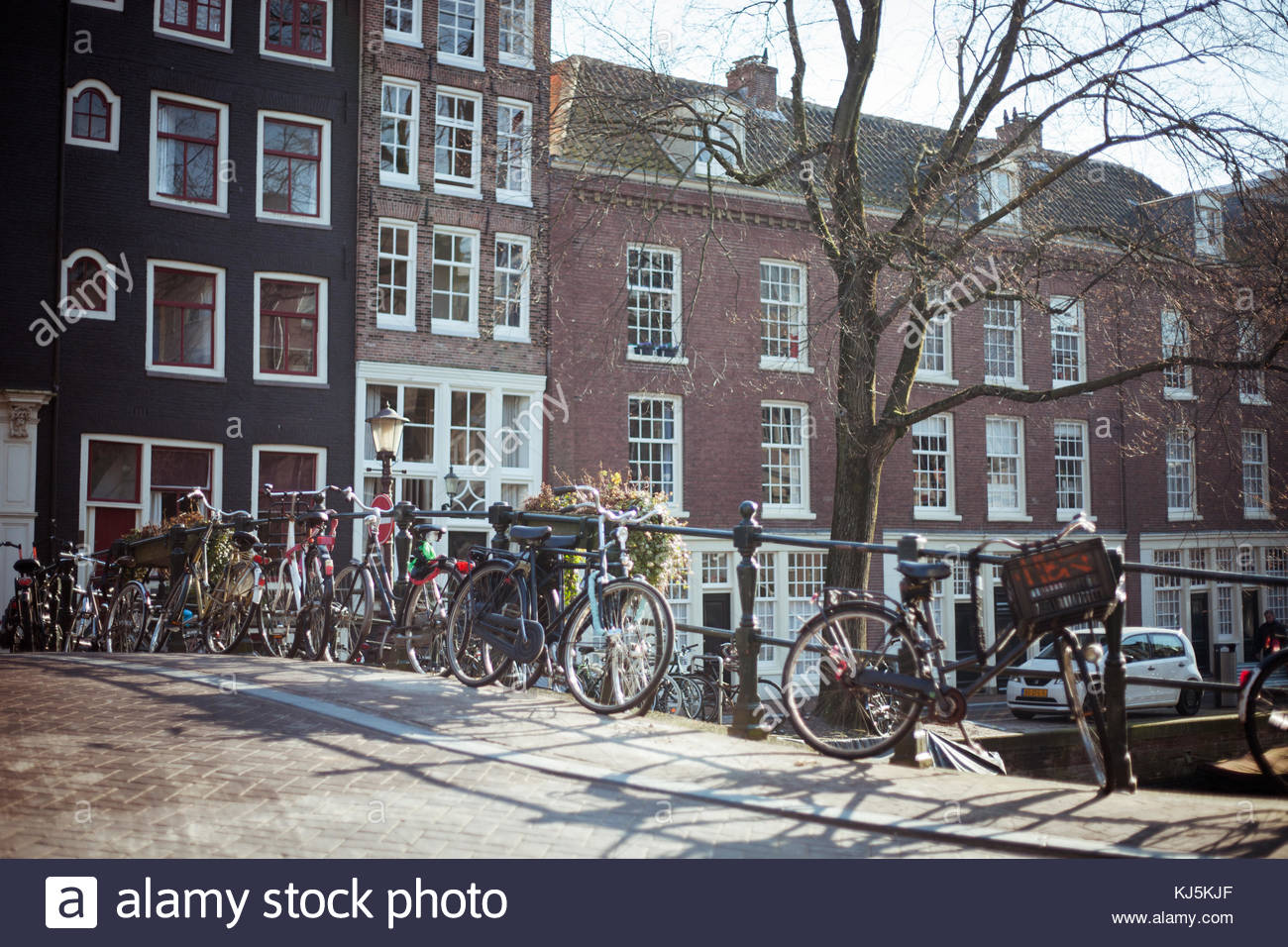 amsterdam bicycles - Stock Image