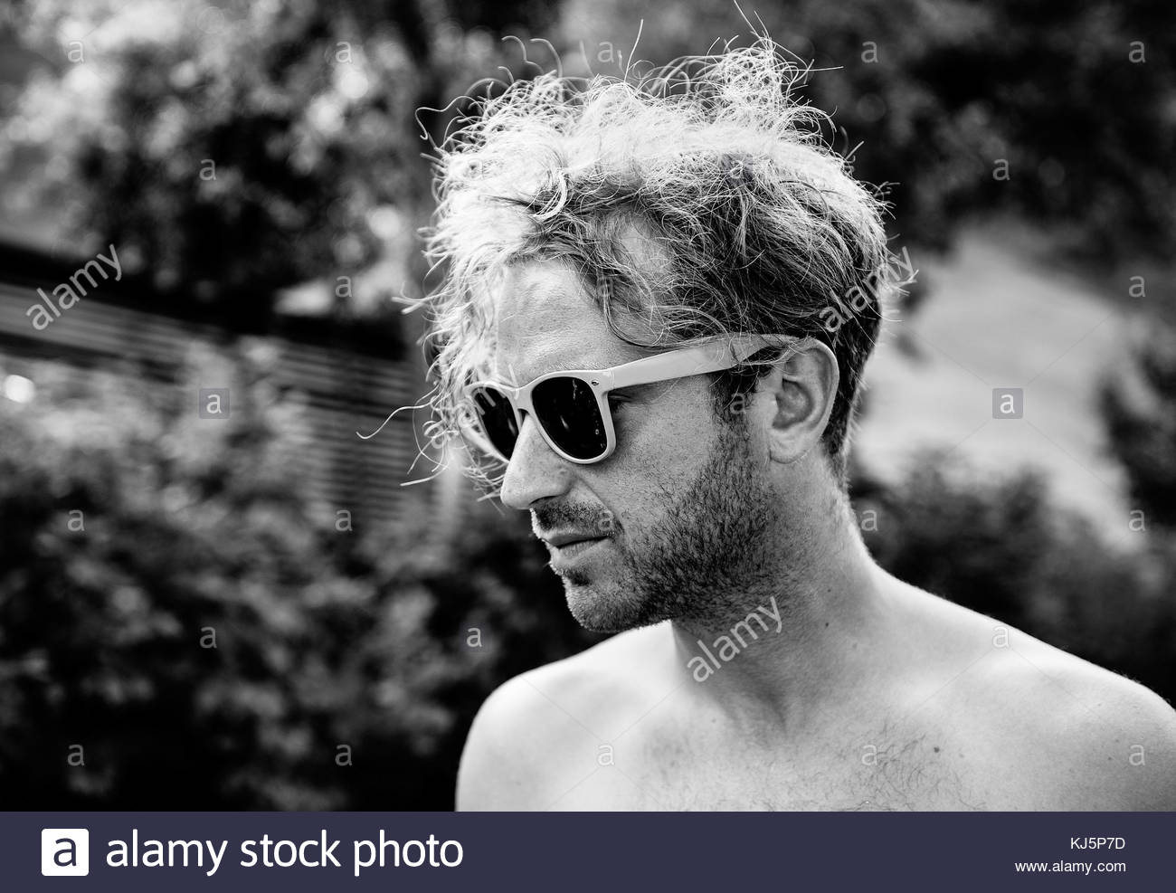 Young man with sunglasses - Stock Image