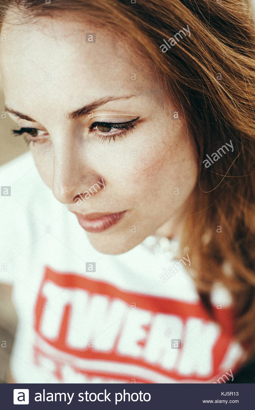 twerk woman face - Stock Image