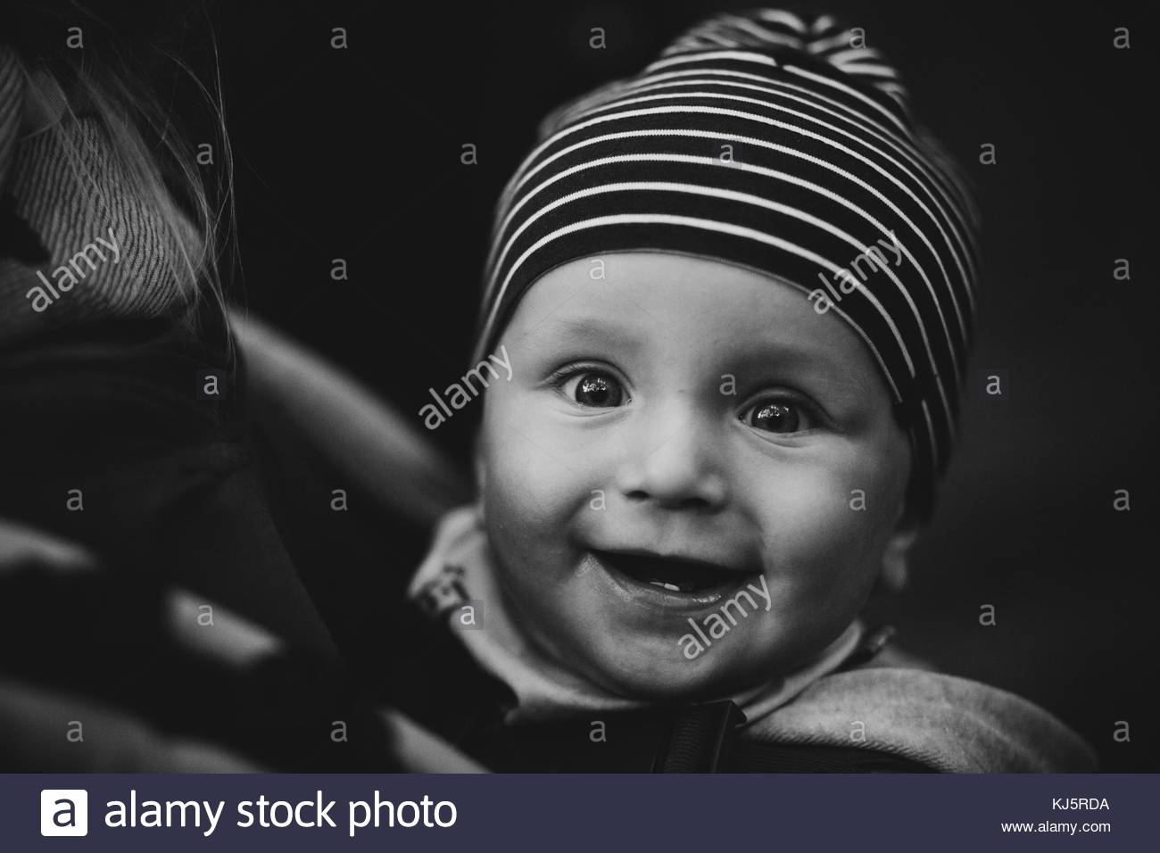 Happy toddler - Stock Image