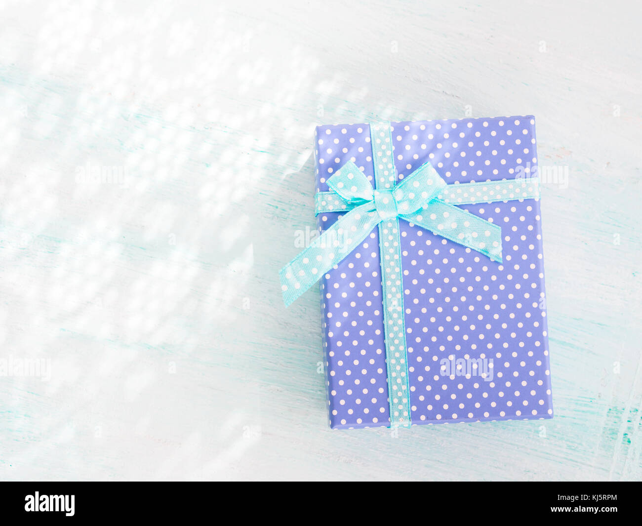 Fathers day present stock photos fathers day present stock images blue gift box with ribbon on pastel background copy space top view fathers day christmas m4hsunfo
