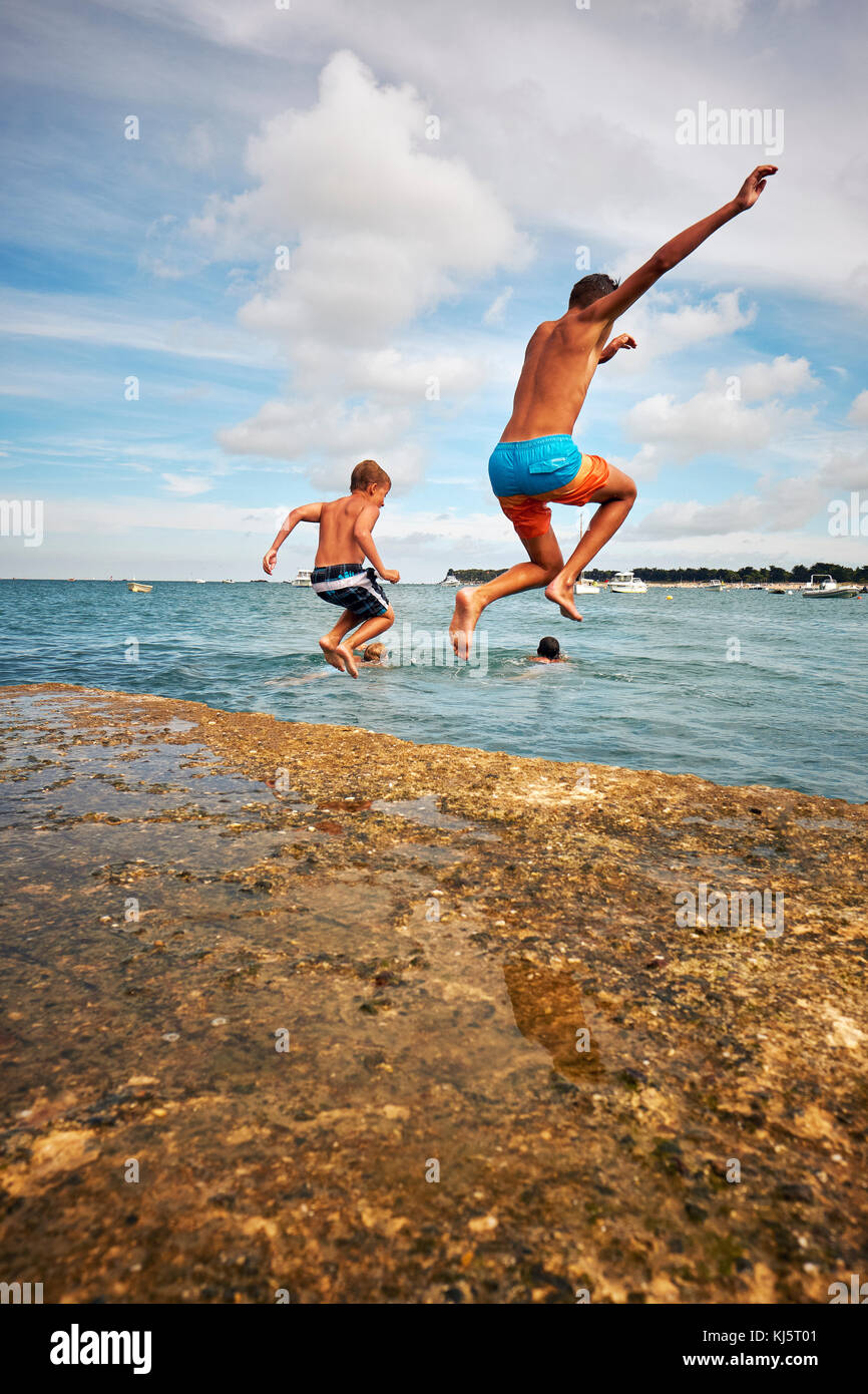 Leaping into summer  :-) Stock Photo