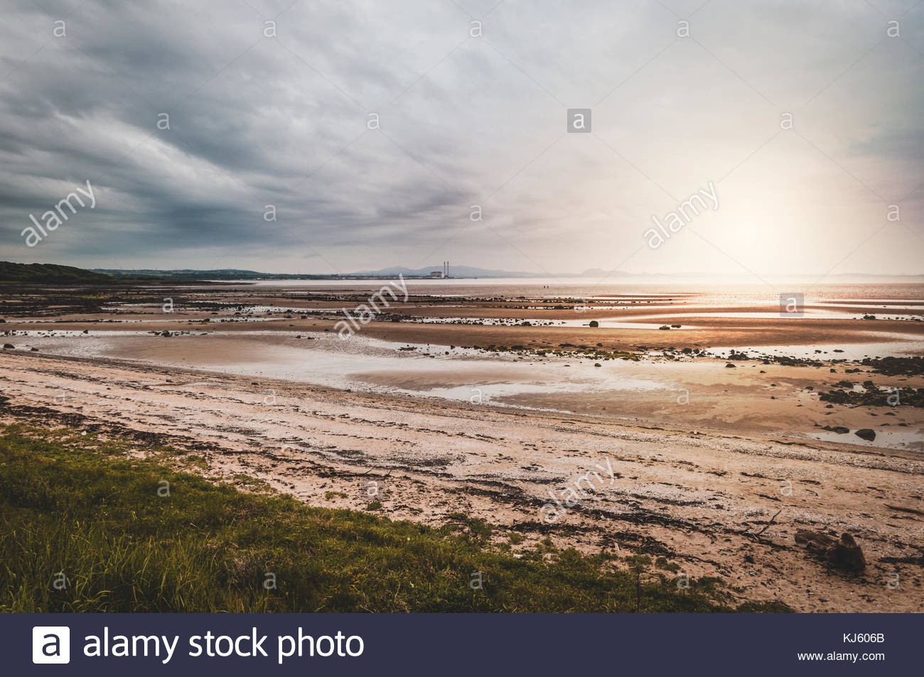 beach at sunset - Stock Image