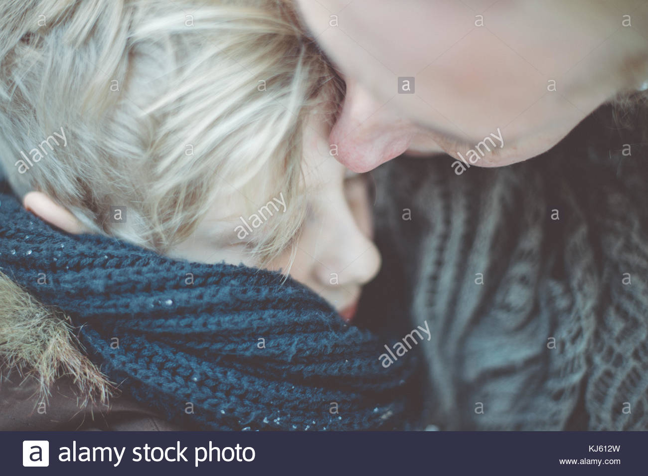Couple cuddling - Stock Image