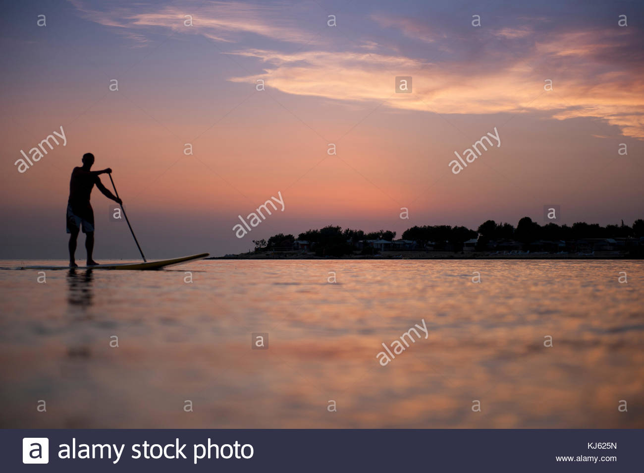 standup paddle boarding Stock Photo